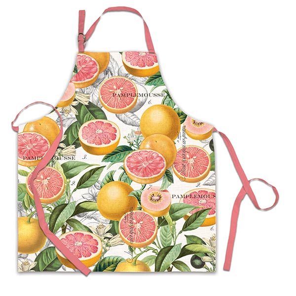Pink Grapefruit Chef Apron By Michel Design Works